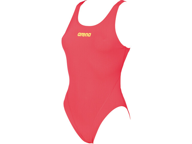 arena Solid Swim Tech High Maillot de bain une pièce Femme, fluo red-soft green